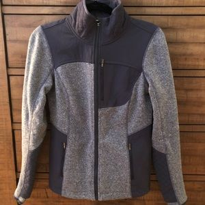 Athleta gray zipper fleece